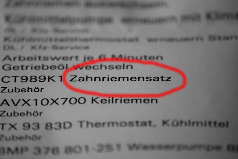 Zahnriemensatz è il kit cinghia di distribuzione (in tedesco ovviamente)