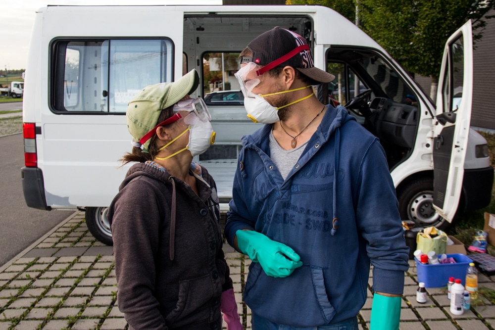 Guanti, mascherine e occhialini: ruggine non ti temo!