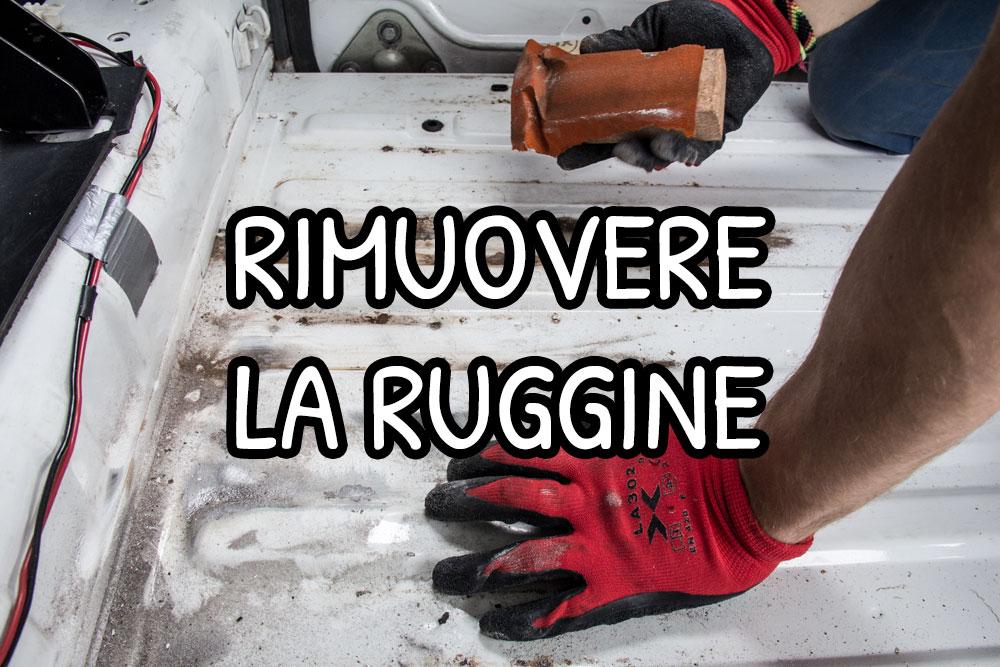 Rimuovere la ruggine dal furgone