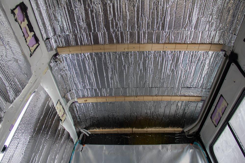 Isolamento termico del tetto del Ducato
