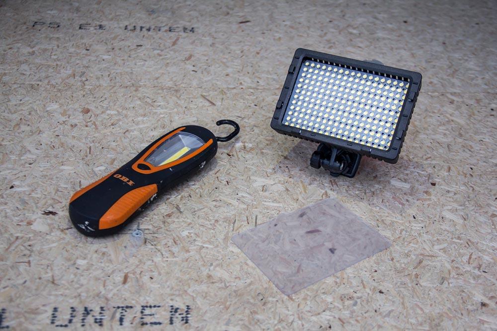Torcia da lavoro e lampada LED per reflex