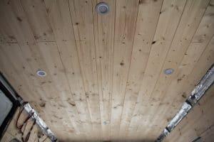 Rivestimento del soffitto del camper completo di luci LED