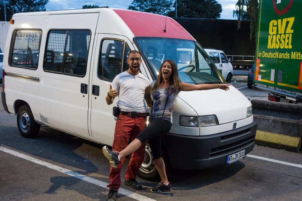 Poche ore dopo l'acquisto del nostro furgone Ducato